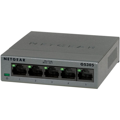 5 poorts gigabit switch metalen behuizing Gigabit 10/100/1000 Mbps