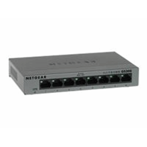 8poorts gigabit switch metalen behuizing