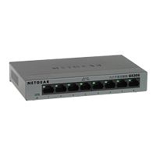 8 poorts gigabit switch metalen behuizing